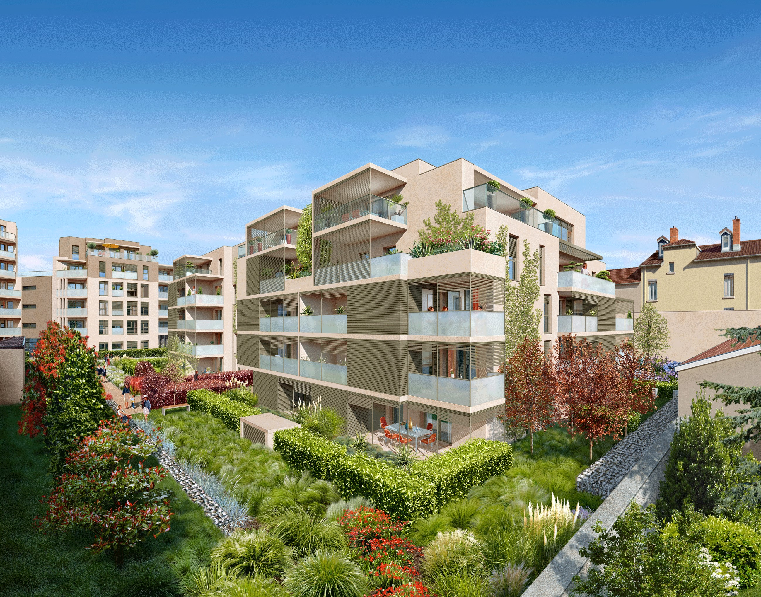 Programme neuf lyon 6 brotteaux patio bellecombe for Programme immobilier