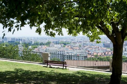 Le parc Bellevue et son panorama