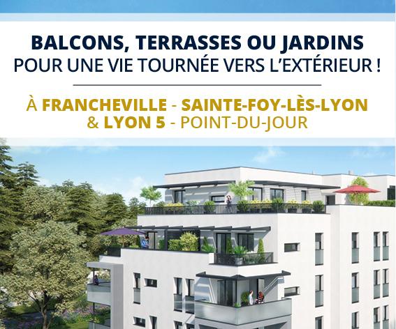 Balcons, terrasses ou jardins pour une vie tournée vers l'extérieur !